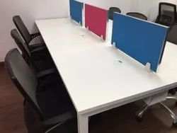 Office Modular Workstation With Double Raceway 45MM Thick