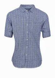 Mens Casual Cotton Check Shirts