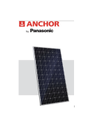 Anchor By Panasonic 375 Watt 24 V Mono PERC Solar Panel