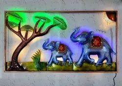 Iron Decoration Jungle Wall Decor, Size: 42 X 23 Inch