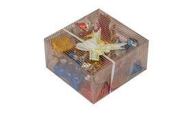 Multicolor SQUARE Transparent Pvc Chocolate Box, For Food
