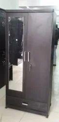 Brown Hinged Double Door Wooden Almirah, Number Of Doors: 2