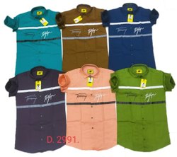 Printed Collar Neck Mens Twill Cotton Shirt, Hand Wash,Machine Wash