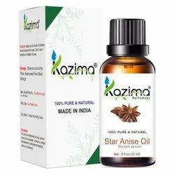 Liquid KAZIMA 100% Pure Natural & Undiluted Star Anise Oil, For Personal, Parlour, Packaging Size: 15 - 1000 Ml