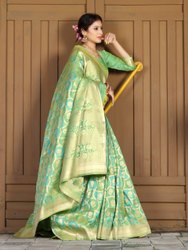 Ladies Silk Saree, With blouse piece, 5.5m