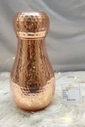 Matt Copper Round Hammered Bad Room Jar for Home, Packaging Type: Box