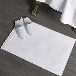 BSPL 100% Cotton Bath Mat White Hotel Towels, 400 TO 700 GSM, Size: 50 * 80 cm