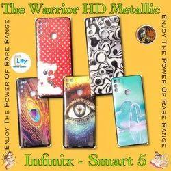 Plastic HD Metallic Print Infinix Smart 5 Mobile Back Cover, Size: 6.82 Inch