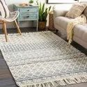 Pail Wool Handwoven Rug, Blue Argyle Trellis Area Rug , Knotted Wool Rug For Home And Living