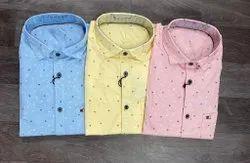 Cotton Printed Men Designer Full Sleeve Shirt, Machine wash
