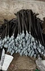 Round L Type Foundation Bolt, For Construction, 1.00