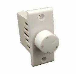 Easy Fit White Polycarbonate Fan Regulator
