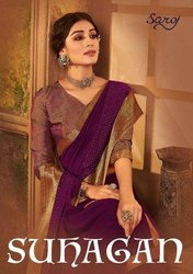 Saroj Textiles Suhagan Vichatri Silk Printed Saree Catalog