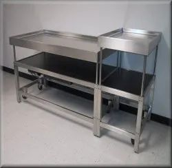 Max Industries Satin Finish Stainless Steel Butcher Table