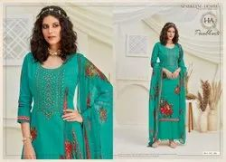 Pure Jam Kashmiri Embroidered Ladies Palazzo Salwar Suit
