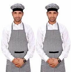 Black and White Checked Kitchen Aprons