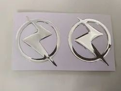 Mirror silver Epoxy Letter Cut Dome Sticker, Packaging Type: Packet