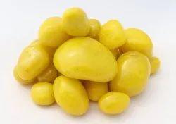 Aquarium Tumbled Polished Coloured Yellow River Pebble