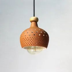 Terracotta Twister Ceiling Pendant Light, For Home