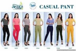 Prithwa Sretchable Alishka Casual Pant Spandex Stretchable Pant Collection