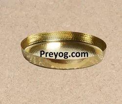 preyog.com Natural Preyog Brass / Gold Round Plate, For Home
