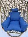 Hanging Swing Single Seater, Anda Full Swing Grey Line Cum White,dark Blue Cushion