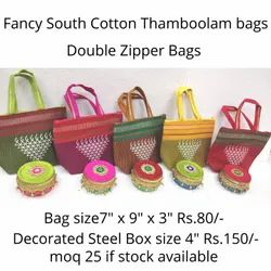 Fancy cotton bag with decorated box
