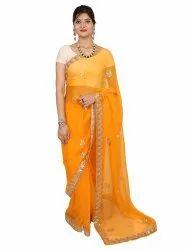 Designer Chiffon  Party Wear  border Saree
