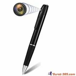 Full Black Pen Camera With Shutter Full HD 1080P for Security