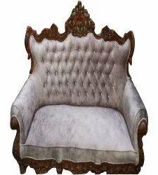 Saleem Handicraft Fancy Two Seater Wooden Sofa