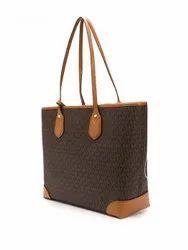 Brown Printed Ladies Hand Bag, For Casual Wear