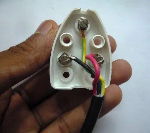 2 5 Mg Type D White 3 Pin Plug Rs 20, 3 Pin Plug Wiring Diagram India