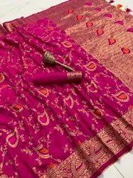 Ank Enterprise Pure Silk Original Mina Jari With Heavy Weaving Work Occasionally Saree