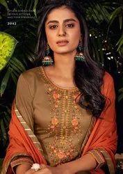Kalarang Kashvi Jam Silk Cotton With Embroidery Work Dress Material Catalog