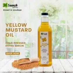 Cold Pressed Yellow Mustard Oil, Packaging Type: Plastic Bottle, Packaging Size: 1 Litre