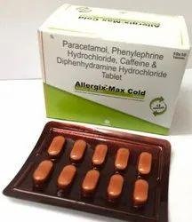 Paracetamol Phenylephrine Hydrochloride Diphenhydramine Hydrochloride and Caffeine