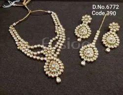 Fusion Arts Meenakari Kundan Necklace Set