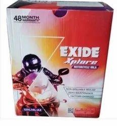 12V Exide Xplore Bullet Motor Cycle Batteries