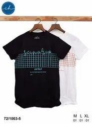 Half Sleeve Cotton/Linen Mens Printed T Shirt