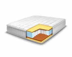 White SPRING MATTRESS, For Hotel, Thickness: 6