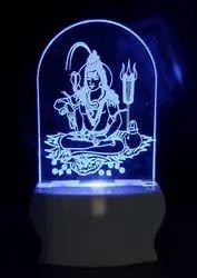SHAYONA Loard Shiv Multi Color 3D Illusion LED Acrylic Night Lamp with