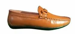 Casual Mens Tan Synthetic Leather Loafer Shoes, Size: 6