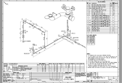 Modular Kitchen & Wardrobe Autocad Piping Isometric Drawing, In Pan India