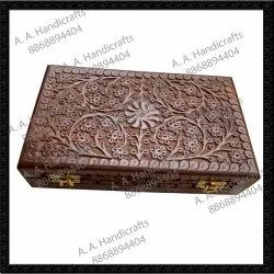 Brown Sheesham Wooden Boxes Deluxe Style Excellent Quality for Decorative Piece, Size: 10x6 inches