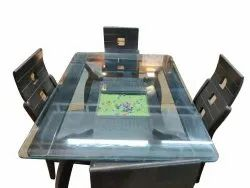 Pitroda Interiers Wooden And Glass Modern Dining Table Set
