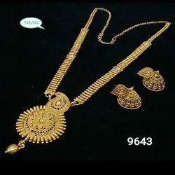 Long Bijoux Haar Neck And Earing Jewellery Set For Women And Girl Bijoux - 6