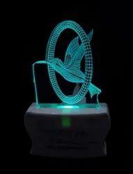 SHAYONA Flying Bird Latest Acrylic Colour Changing 3D Illusion LED Night Lamp