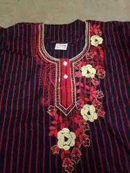 Women Cotton Nightwear, Maroon
