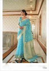 Ladies Stylish Silk Saree, With blouse piece, 5.5m
