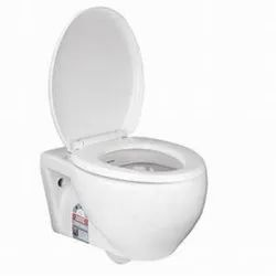 White Wall Mounted Hindware Western Commode, For Home